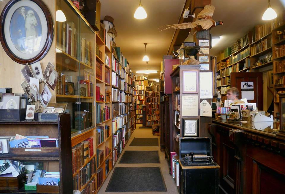 Carlson & Turner Books has more than 40,000 volumes neatly filed on its shelves.