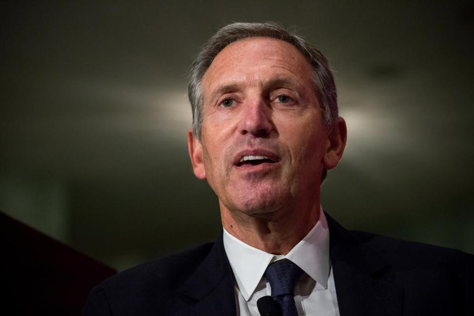 Former Starbucks CEO Howard Schultz