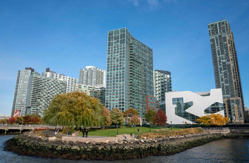 A view of the waterfront of Long Island City in the Queens borough of New York, where Amazon is expected to put its new headquarters.