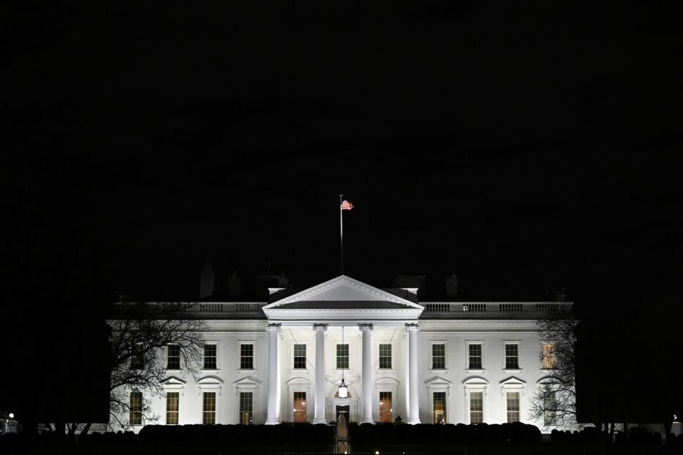 "FILE - In this Jan. 23, 2019, file photo, a view of the White House in Washington, Wednesday, Jan. 23, 2019. Borrowing a word from Democrats, a new White House report says changes made to the Affordable Care Act under President Donald Trump didn't amount to ""sabotage."" (AP Photo/Susan Walsh, File)"