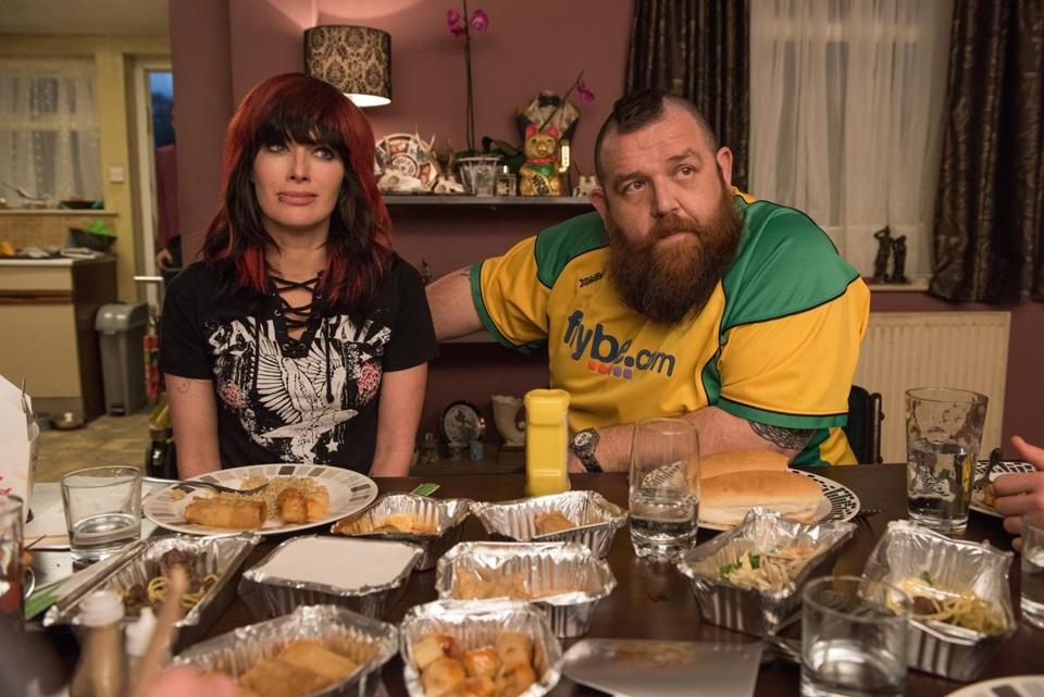 Lena Headey (left) as Julia Knight and Nick Frost (right) as Ricky Knight in FIGHTING WITH MY FAMILY, directed by Stephen Merchant, a Metro Goldwyn Mayer Pictures film. Credit: Robert Viglasky / Metro Goldwyn Mayer Pictures © 2018 Metro-Goldwyn-Mayer Pictures Inc.Ê All Rights Reserved.