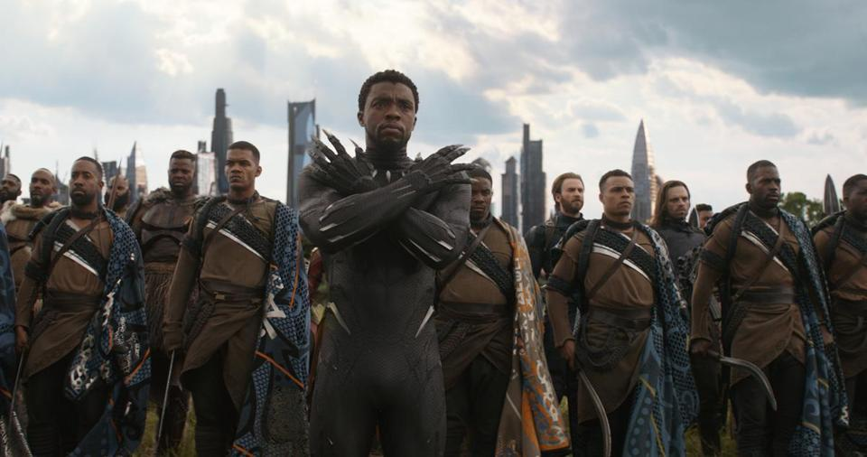 "Black Panther/T'Challa (Chadwick Boseman) in the 2018 film ""Avengers: Infinity War."""