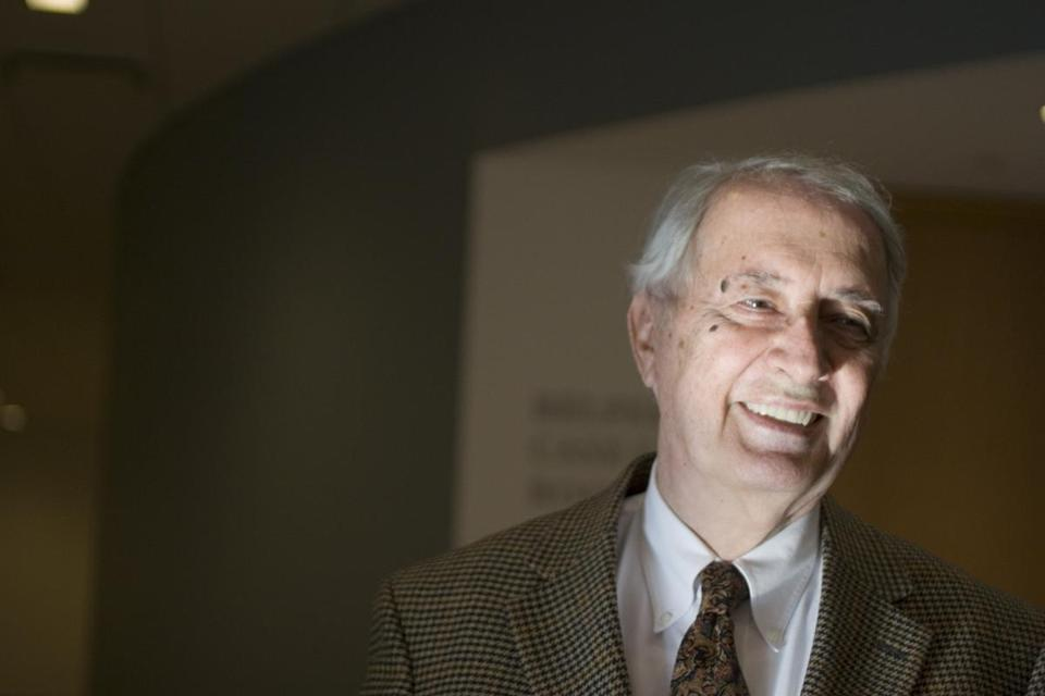 (Cambridge, MA, Tuesday, March 14, 2006) -- Roderick MacFarquhar, (cq.) Director of the Fairbank Center at Harvard University, studies the history and politics of modern China. Staff photo by Rose Lincoln/Harvard University News Office