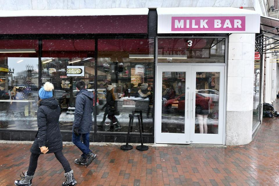 CAMBRIDGE, 2/18/2019 - Exterior of Milk Bar & Pizza in Harvard Square. Josh Reynolds for The Boston Globe (Lifestyle, food, Julian)