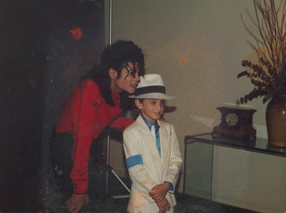 "A scene from HBO's documentary ""Leaving Neverland."""