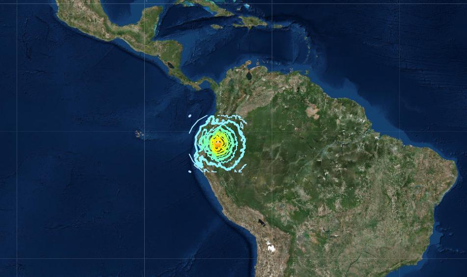 7.5-magnitude earthquake rocks Ecuador-Peru border region