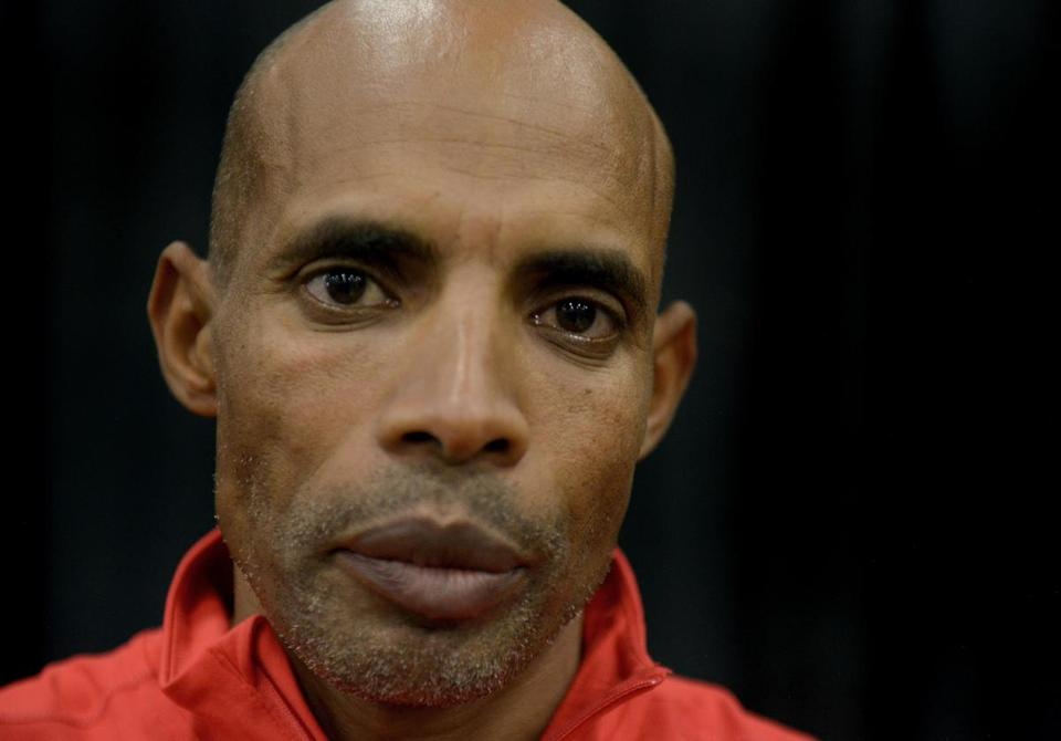SAN ANTONIO, TX - DECEMBER 1: Boston Marathon Champion Meb Keflezighi poses for a portrait at the Health & Fitness Expo during Humana Rock 'n' Roll San Antonio Marathon and 1/2 Marathon on December 1, 2018 in San Antonio, Texas (Photo by Donald Miralle/Getty Images for Rock n' Roll)