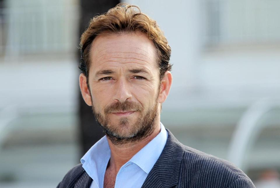 "(FILES) In this file photo taken on October 05, 2010 Actor Luke Perry poses during the TV series photocall ""Goodnight for Justice"" during the 26th edition of the five-day MIPCOM, on October 5, 2010 in Cannes. - Actor Luke Perry, who starred in the hit 1990s television series ""Beverly Hills, 90210,"" died on March 4, 2019 at the age of 52 after suffering a massive stroke, his agent said. (Photo by Valery HACHE / AFP)VALERY HACHE/AFP/Getty Images"
