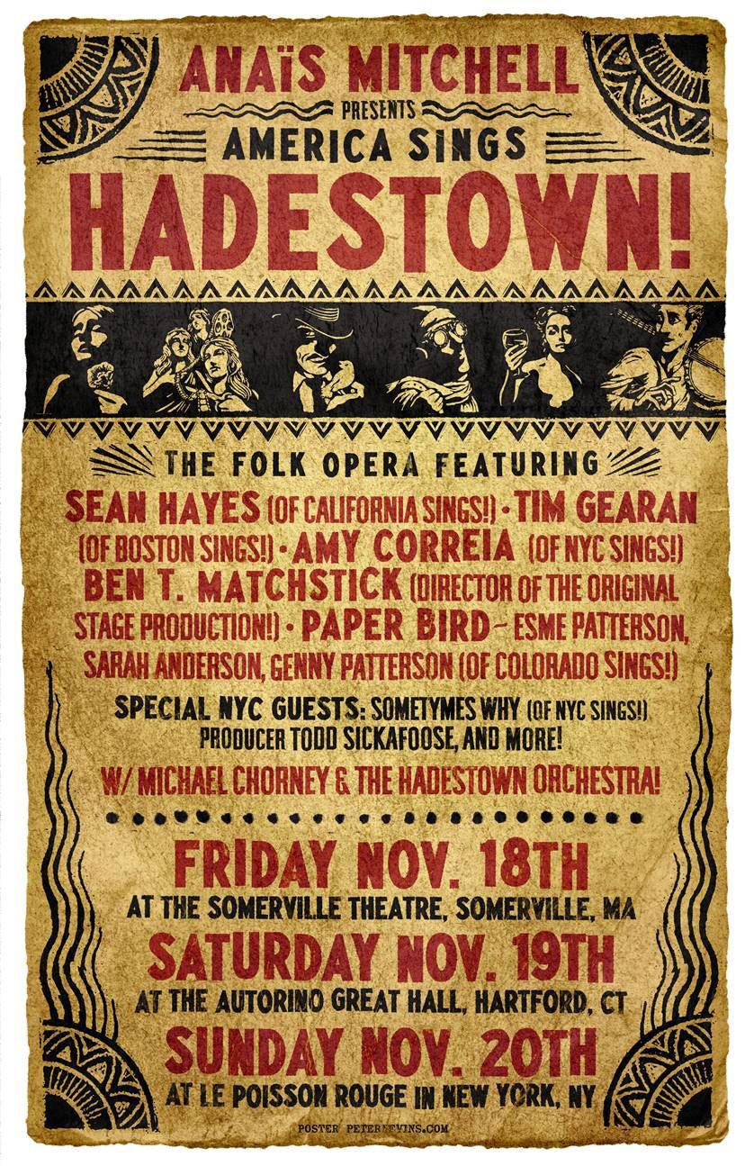 "The flier from the ""Hadestown"" 2011  tour of the Northeast."
