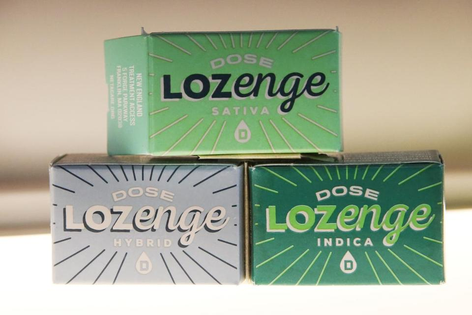 Marijuana-infused lozenges at the store.
