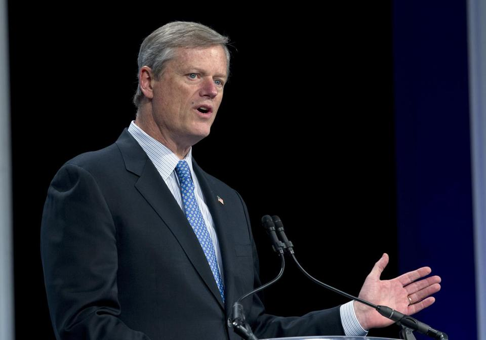 Governor Charlie Baker reported accepting nearly $8,000 from attorneys at the firm Brown Rudnick LLP and their relatives, through his and Lieutenant Governor Karyn Polito's inaugural committee.