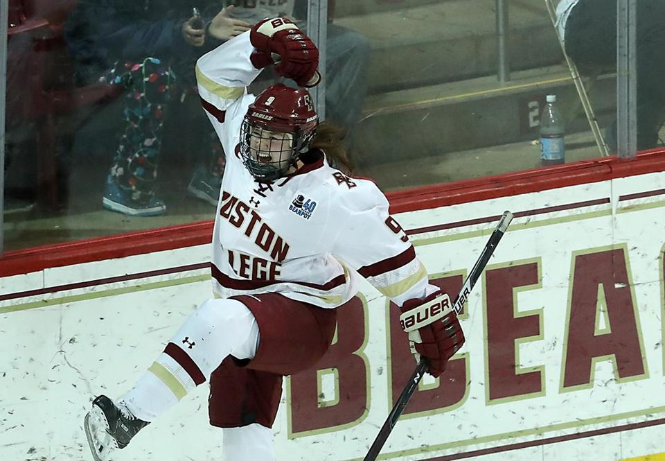 Daryl Watts had two goals and an assist for Boston College on Saturday.