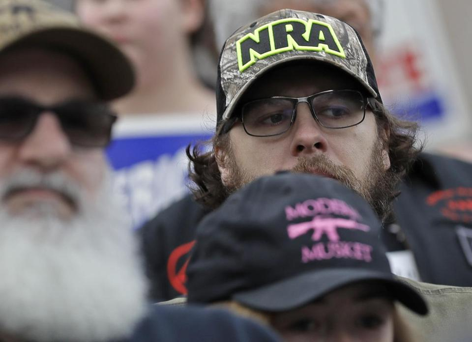 An attendee at a January gun-rights rally in Olympia, Wash.