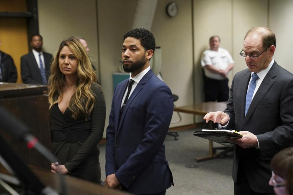 Actor Jussie Smollet appeared in court on Thursday.