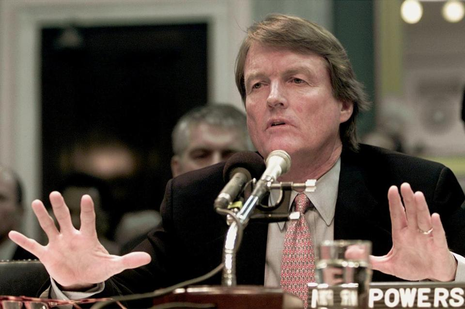 Mr. Powers testified before a Senate committee about the scandal at Enron, where he was a director.