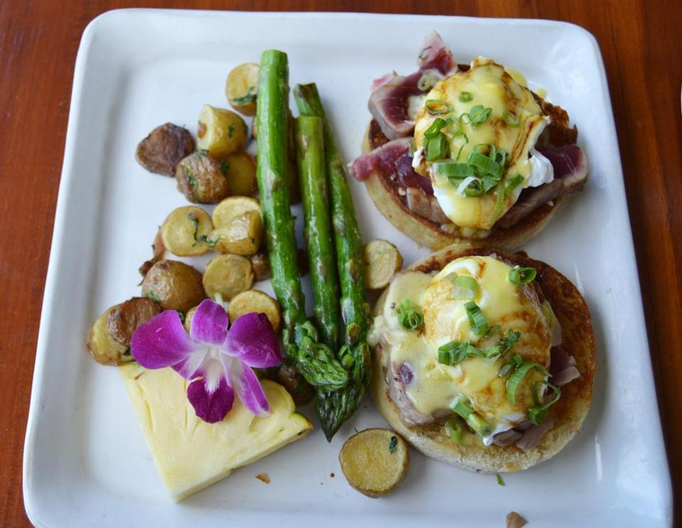 The ahi Benedict at Cane & Canoe on Maui is a great way to kick-start your day on the island.
