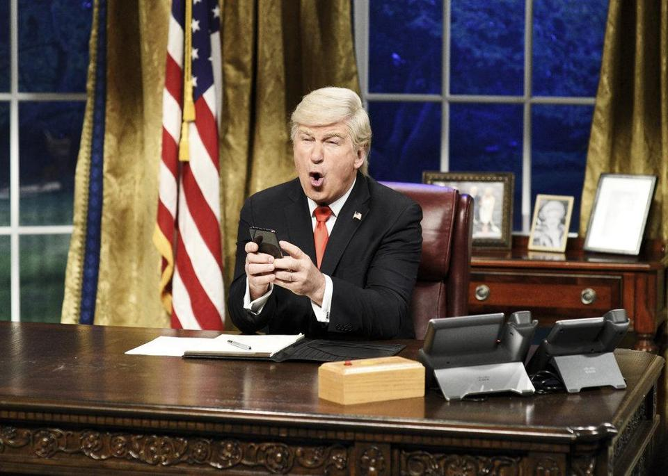 "Alec Baldwin has impersonated Donald Trump on many skits on ""Saturday Night Live."""