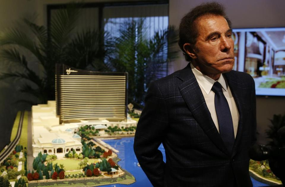 Medford, MA - 3/15/2016 - Steve Wynn speaks to reporters about a planned casino in Everett during a press conference in Medford, MA March 15, 2016. Jessica Rinaldi/Globe Staff Topic: 16wynn Reporter:
