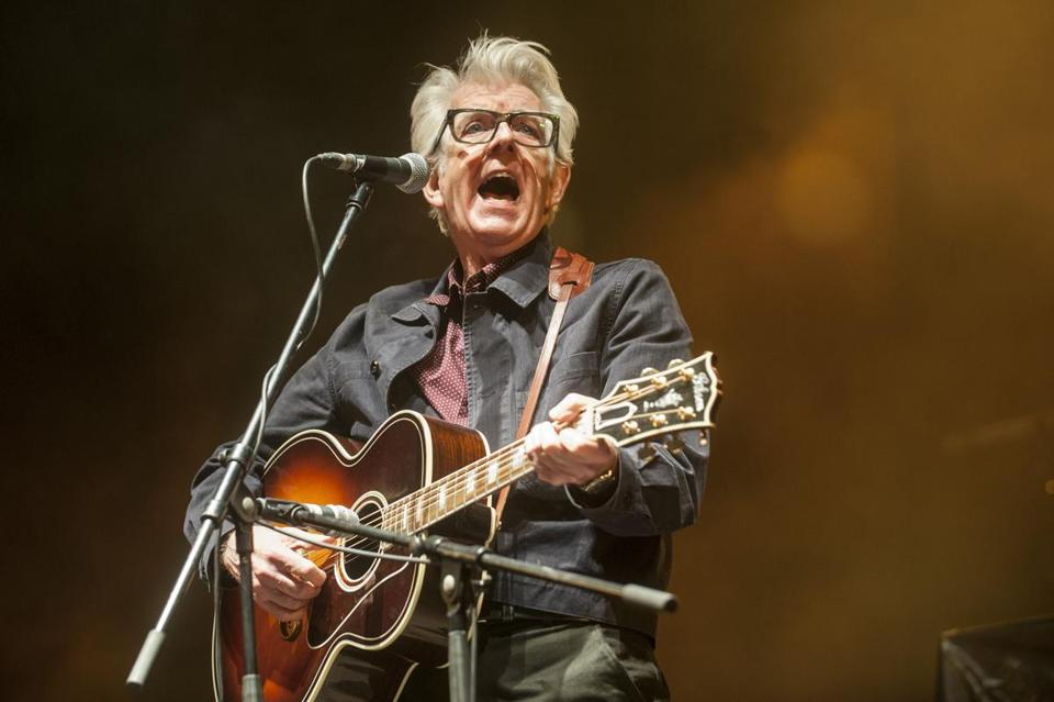 English singer-songwriter Nick Lowe performs on the stage of the Stop War Festival, in San Sebastian on March 27, 2016. / AFP / GARI GARAIALDE (Photo credit should read GARI GARAIALDE/AFP/Getty Images)