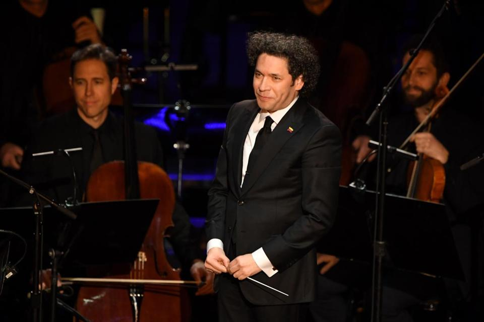 Gustavo Dudamel, the Music and Artistic Director of LA Philharmonic Orchestra, is seen after the 91st Annual Academy Awards at the Dolby Theatre in Hollywood, California on February 24, 2019. (Photo by VALERIE MACON / AFP)VALERIE MACON/AFP/Getty Images