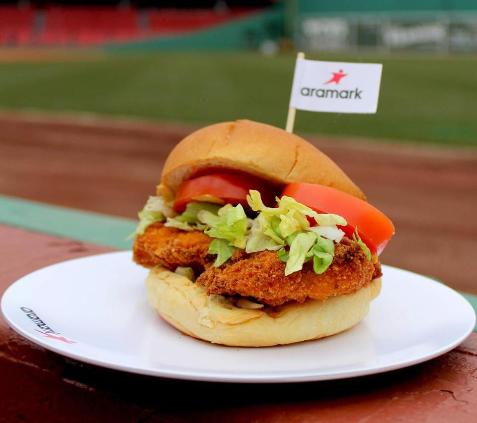 The chicken tender sandwich can be found on the Big Concourse.