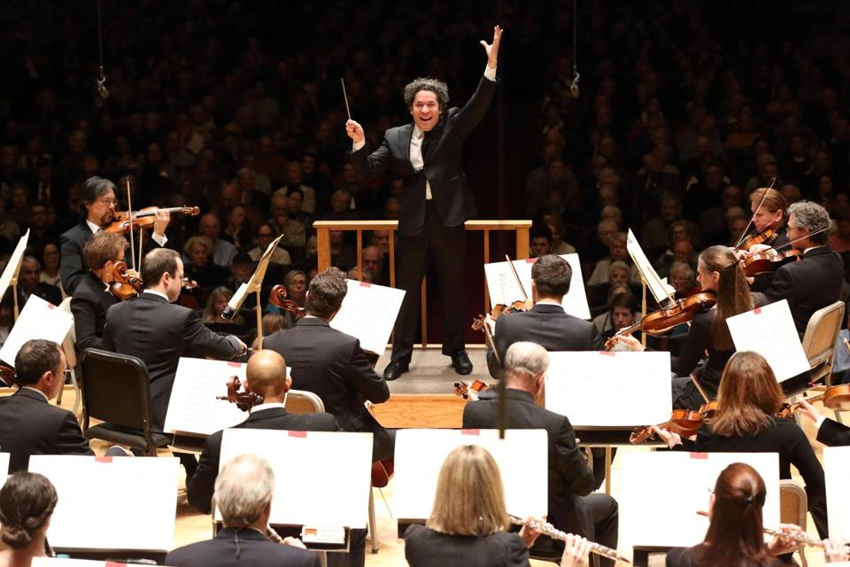 Gustavo Dudamel and the Boston Symphony Orchestra at Symphony Hall.