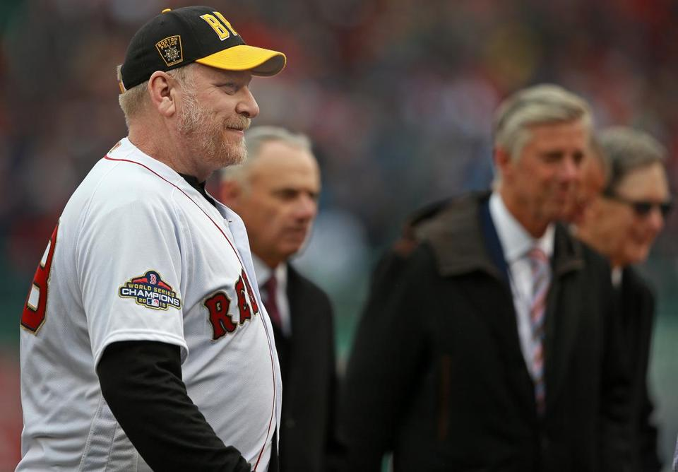 Former Red Sox pitcher Curt Schilling was seen in April at Fenway Park.