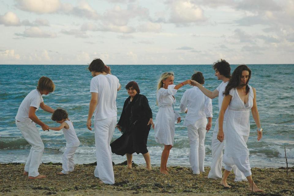 "A scene from ""Beaches of Agnés,"" a movie by the late filmmaker Agnés Varda that is available on the movie site MUBI."