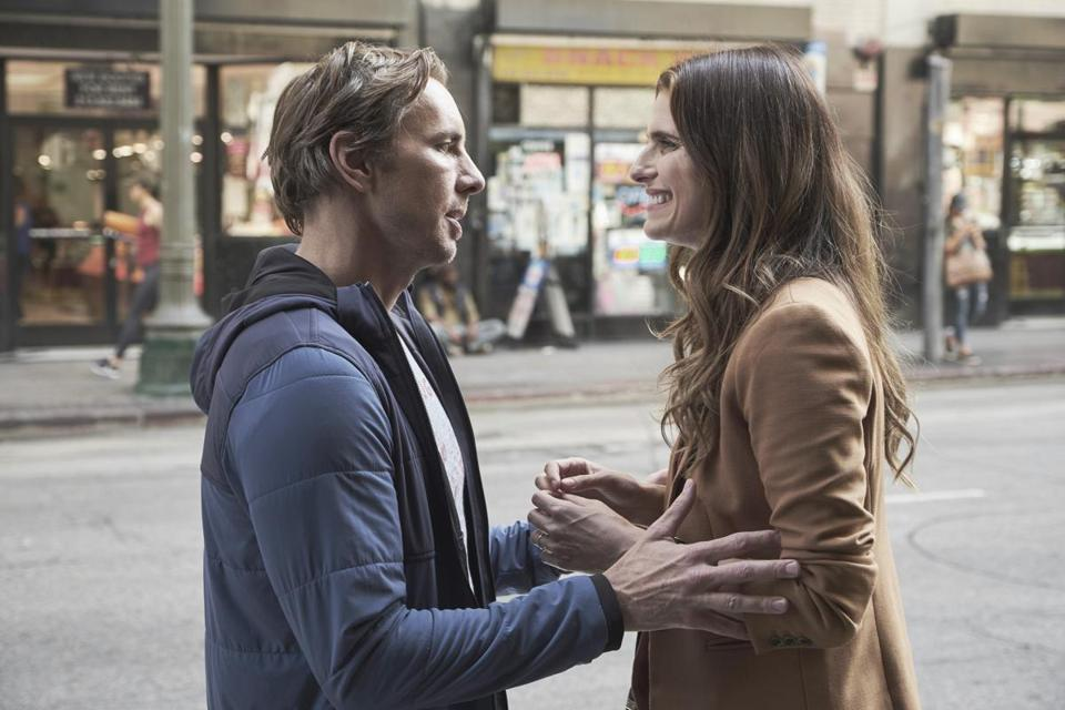 "The new ABC sitcom ""Bless This Mess"" follows newlyweds Rio (Lake Bell) and Mike (Dax Shepard) as they make the decision to move from New York to rural Nebraska."