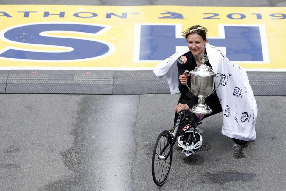 Manuela Schaer won Boston for the second time.