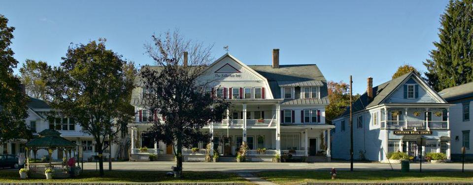The three-story Fullerton Inn has a commanding spot on Main Street in the center of the village.
