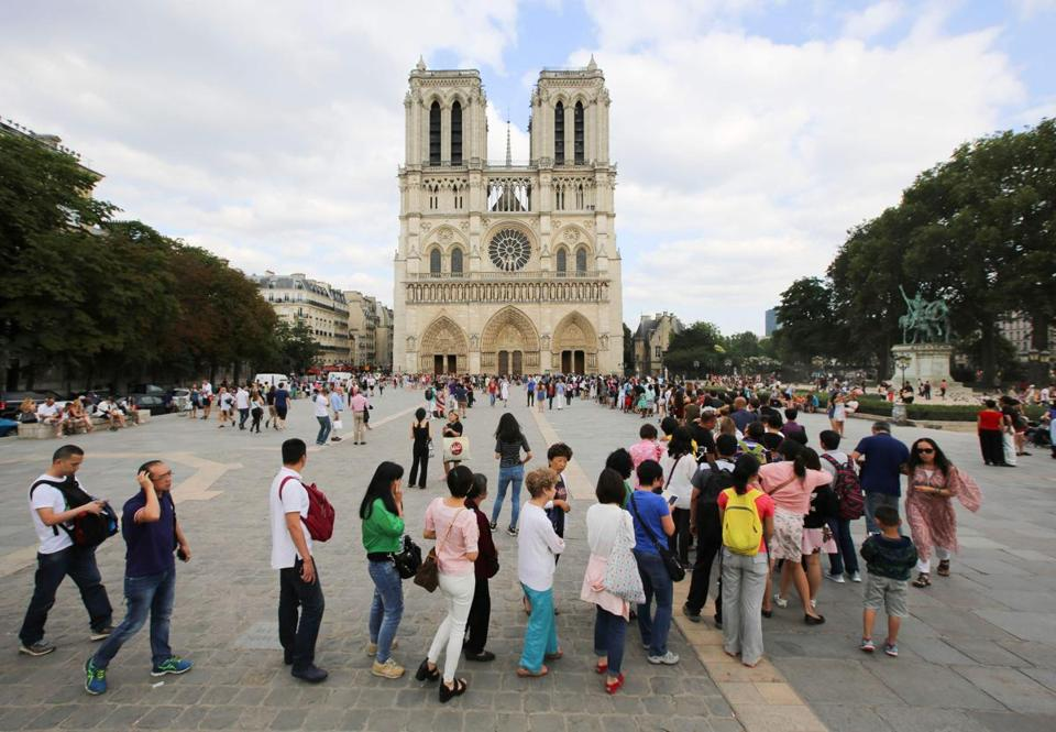Notre Dame Cathedral in Paris in July 2016.