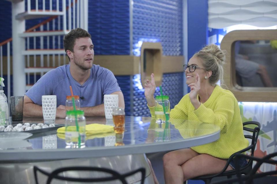 "Nicole Franzel (pictured with Corey Brooks on ""Big Brother"") will be among the competitors in season 31 of ""The Amazing Race."""