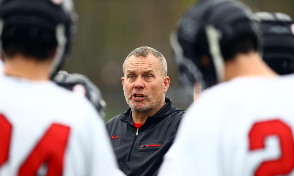 "Hingham High lacrosse coach John Todd, noted the impact the town's youth league has had on his program's success. ""The youth program is a great resource, since it's exposing guys to the game at an early age,"" Todd said."