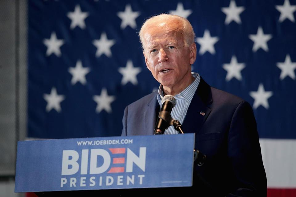 Joe Biden at a campaign event in Cedar Rapids, Iowa
