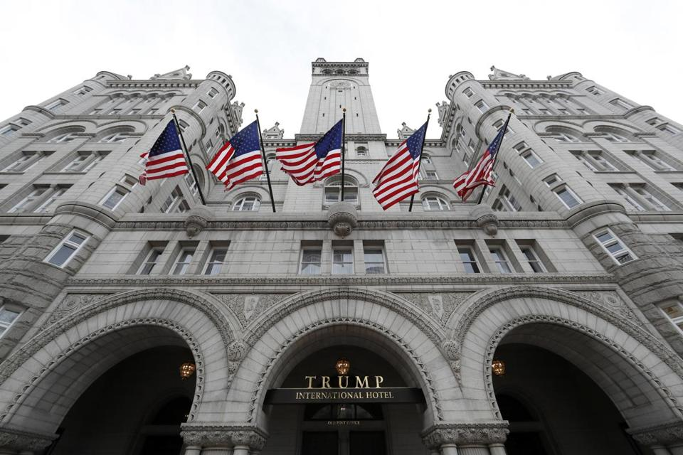 The Trump International Hotel at 1100 Pennsylvania Ave. in Washington