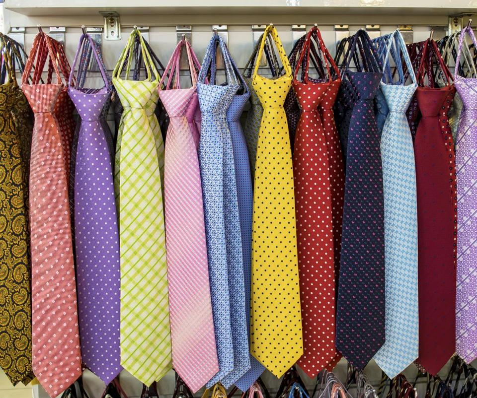 Picking the right tie can be confusing.