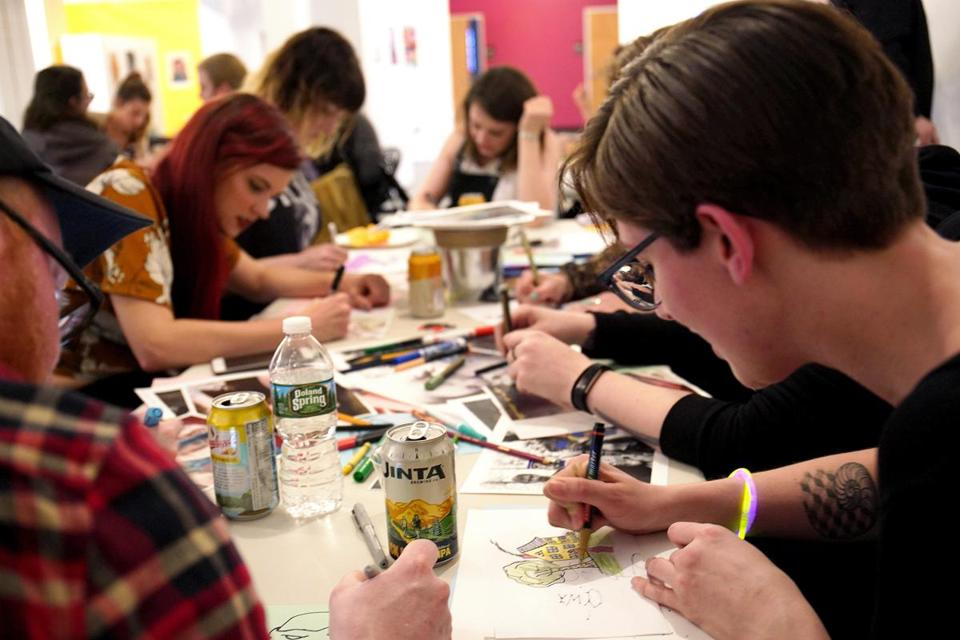 """May the Fourth Be With You,"" a Star Wars-themed drinking and drawing event at Zone 3 in Allston."
