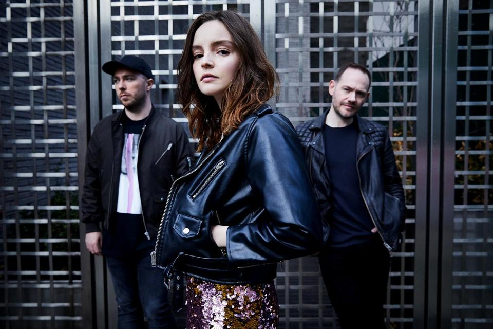 The band Chvrches, which is playing at the Boston Calling festival.