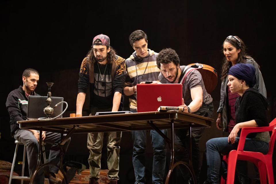 "The cast of ""We Live in Cairo,"" a musical getting its world premiere at the American Repertory Theater."
