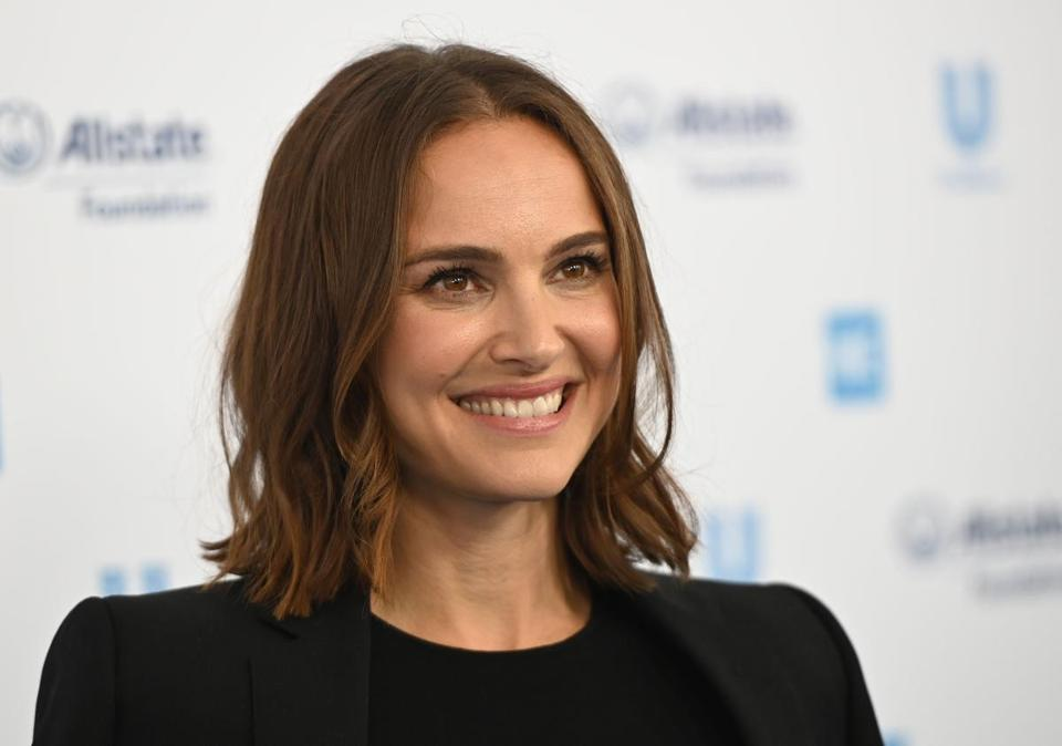Actress Natalie Portman arrives for WE Day California at the Forum in Inglewood, California on April 25, 2019. - WE Day is the worlds largest youth empowerment event combining the energy of a live concert with the inspiration of extraordinary stories of leadership and change. WE Day California will bring together world-renowned speakers and award-winning performers to celebrate the tens of thousands of young people from across California who have made a difference in their community. (Photo by Robyn BECK / AFP)ROBYN BECK/AFP/Getty Images