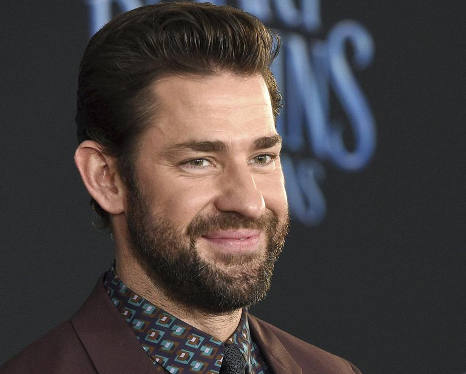 "FILE - In this Nov. 29, 2018 file photo, actor-writer-director John Krasinski poses at the premiere of the film ""Mary Poppins Returns"" at the Dolby Theatre in Los Angeles. Brown University announced Tuesday, April 23, 2019, that Krasinski will be among those to receive honorary degrees at Brown's commencement ceremonies on Sunday, May 26, in Providence, R.I. (Photo by Chris Pizzello/Invision/AP, File)"