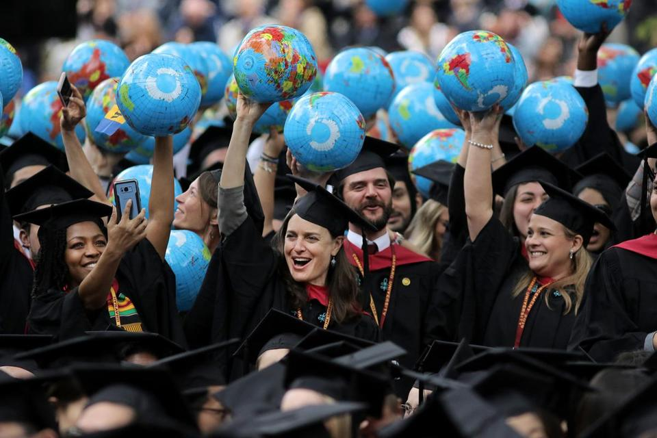 Cambridge - 05/30/19 - JFK School of Government graduates celebrated commencement on Harvard Yard. (Lane Turner/Globe Staff) Reporter: (Deirdre Fernandes) Topic: (31harvard)