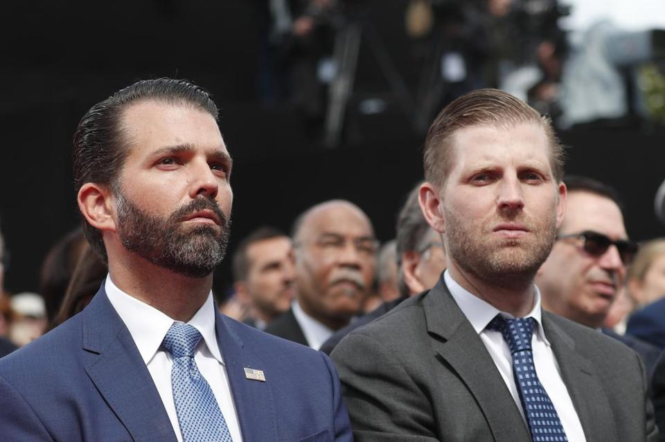 Donald Trump Jr., left, and Eric Trump.