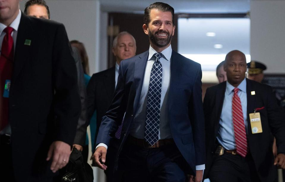 Donald Trump, Jr. arrived to testify on Capitol Hill.