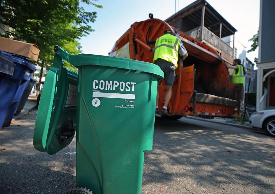 In Cambridge, a composting program is already underway. Boston aims to offer a similar service at curbside.