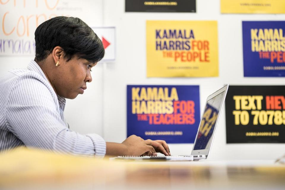 Jalissa Washington-Price, South Carolina state director for the 2020 Kamala Harris presidential campaign, is part of what Democrats call an extraordinary new era in South Carolina politics.
