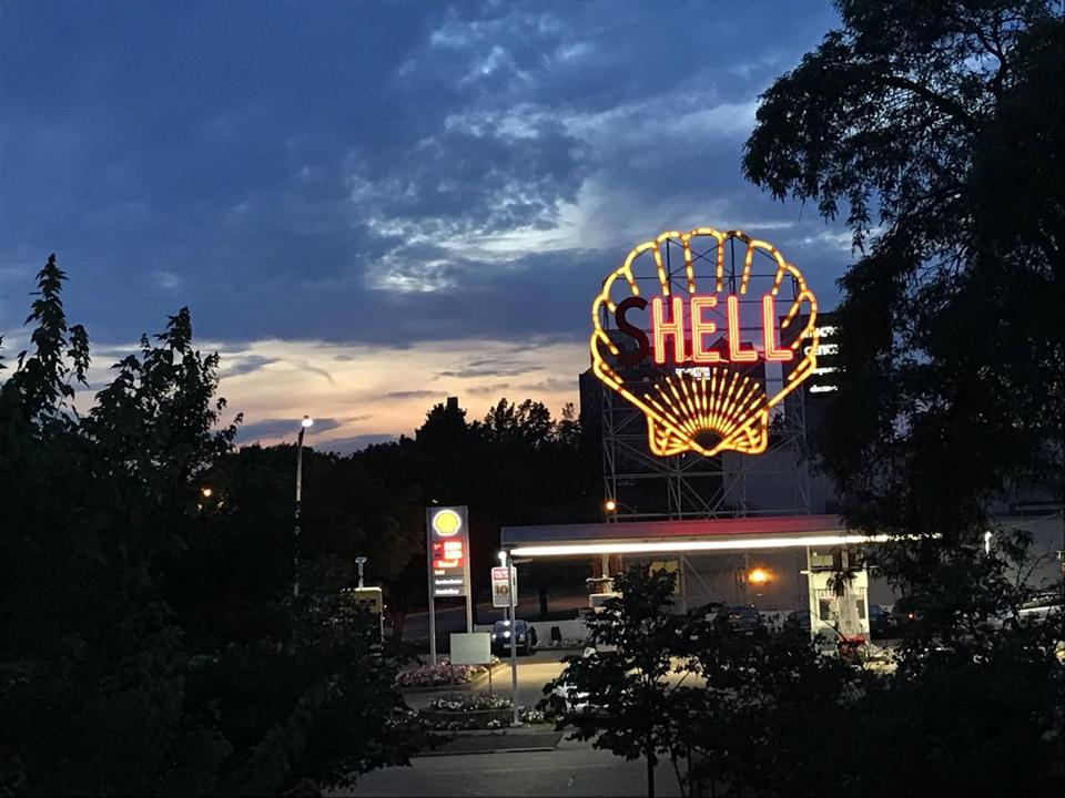 "The Shell sign in Cambridge read ""hell"" this week after the lights in the ""S"" went out."