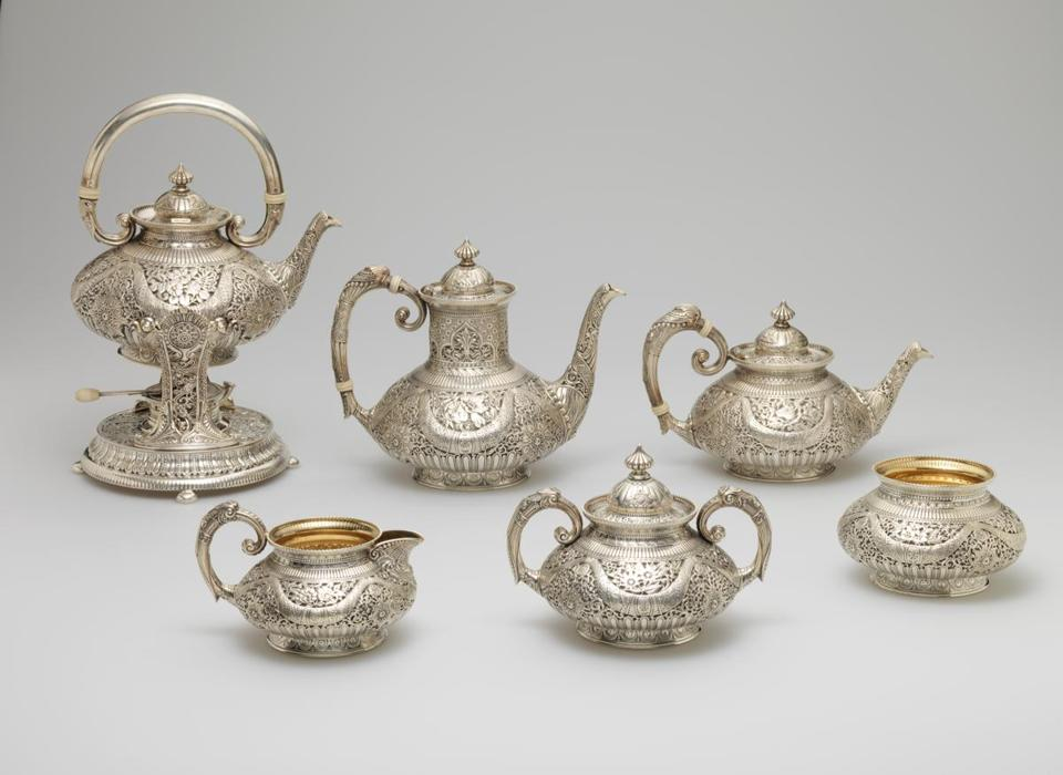Gorham Manufacturing Company coffee and tea service, from 1886