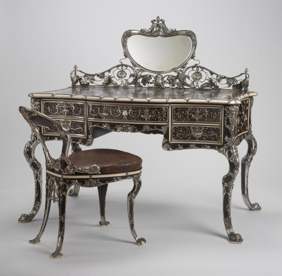 Gorham Manufacturing Company, manufacturer, MartelŽ Writing Table and Chair, 1903. Gift of Mr. and Mrs. Frederick B. Thurber. RISD Museum, Providence, RI.